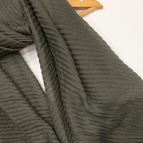 Ripple Crinkle  Hijab Granite Grey