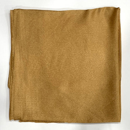 Formal square scarf gold