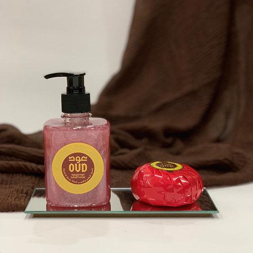 Rose Oud Liquid Soap 300ml & Soap Bar 125g