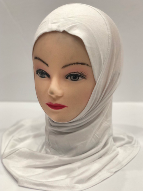 Kids Hijab Small White