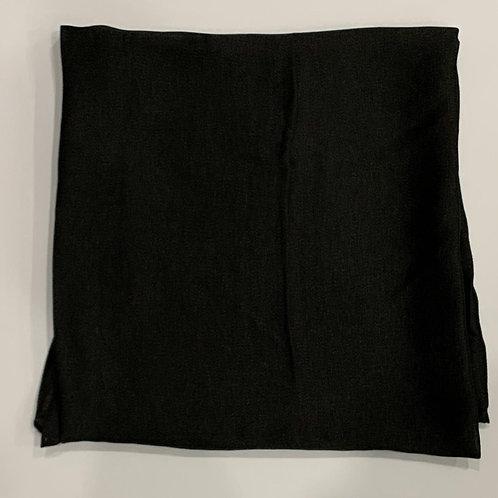 Formal square scarf black