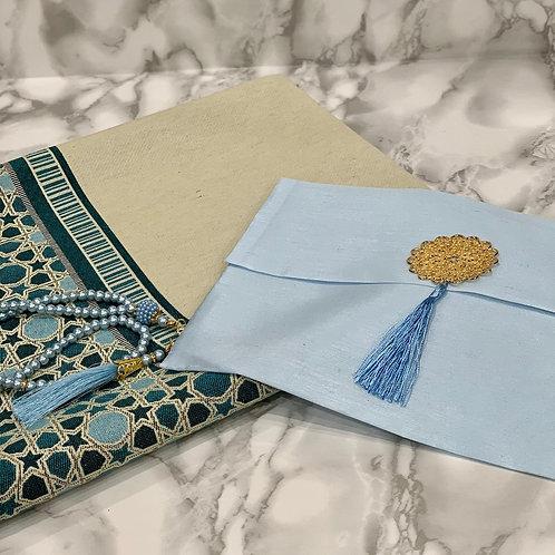Turquoise Reversible Janamaz Set