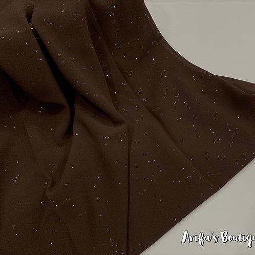 Glitter Chiffon Hijab Expresso