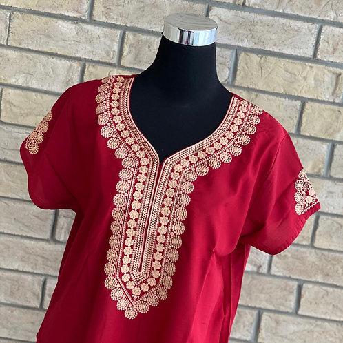 Burgundy Mandala Kaftan/Lounge Wear