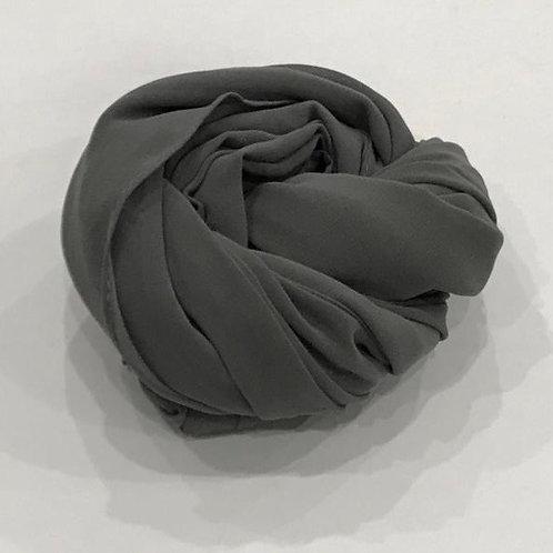 Chiffon Hijab Granite Grey