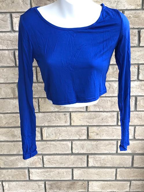 Crop Undershirt Royal Blue