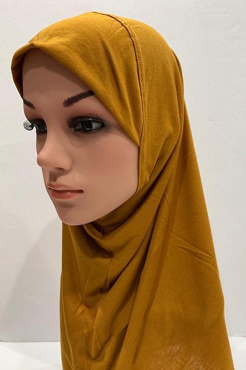 Kids Hijab Medium Mustard
