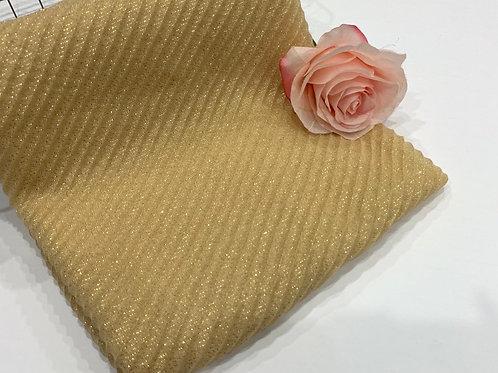 Ripple Shimmer Hijab Yellow Gold