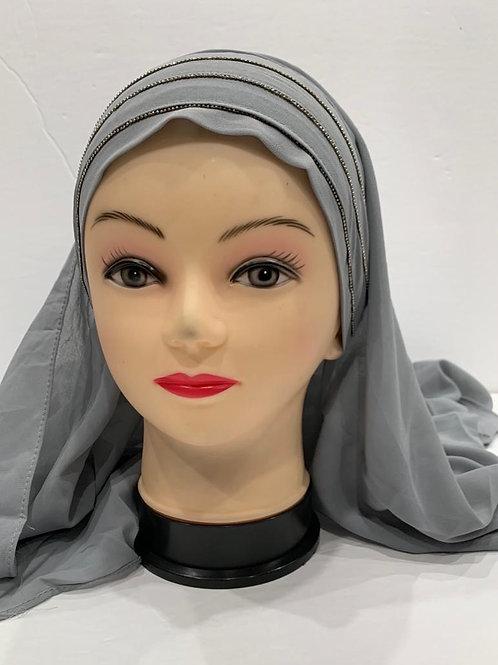 Instant Chiffon Hijab Grey