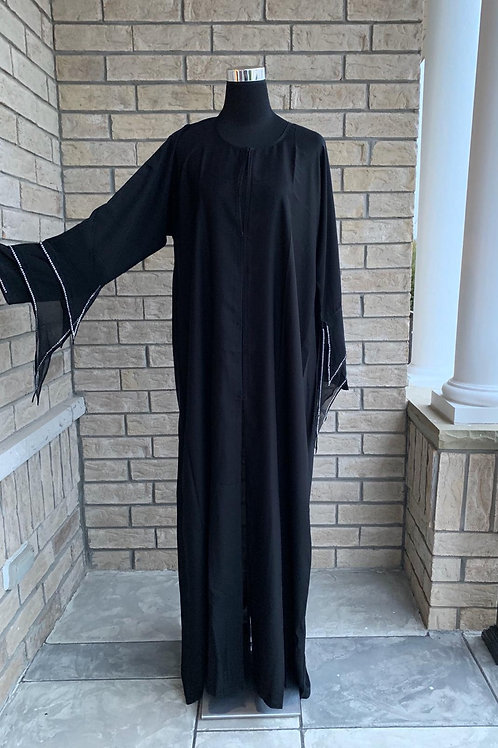 Abaya with Chiffon Handwork