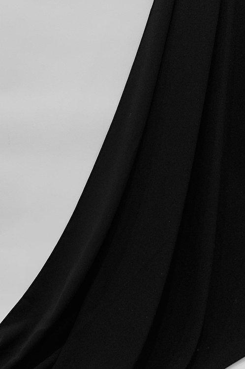 Luxury Chiffon Hijab Black