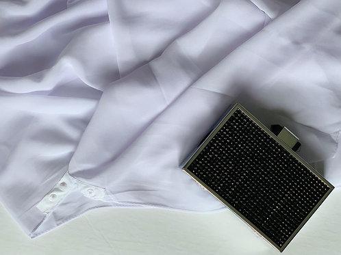 Button Chiffon Hijab Optic White