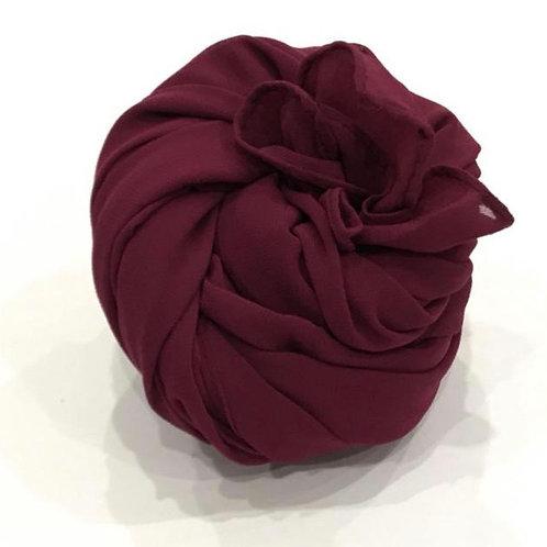 Chiffon Hijab Deep Burgundy