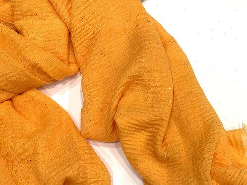 Glitter Crinkle Hijab Mustard