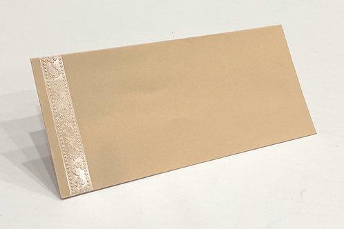 Fancy Envelope Beige Stripe Detail + Sand