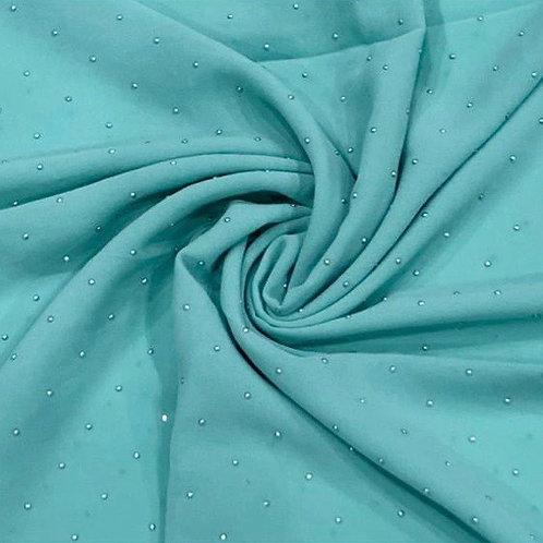 Silver Diamonds Chiffon Hijab Turquoise