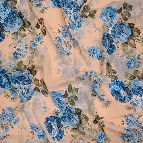 Sapphire Bloom Chiffon Hijab
