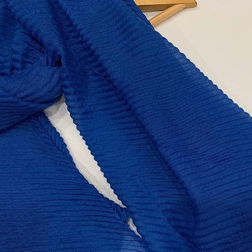 Ripple Crinkle Hijab Royal Blue