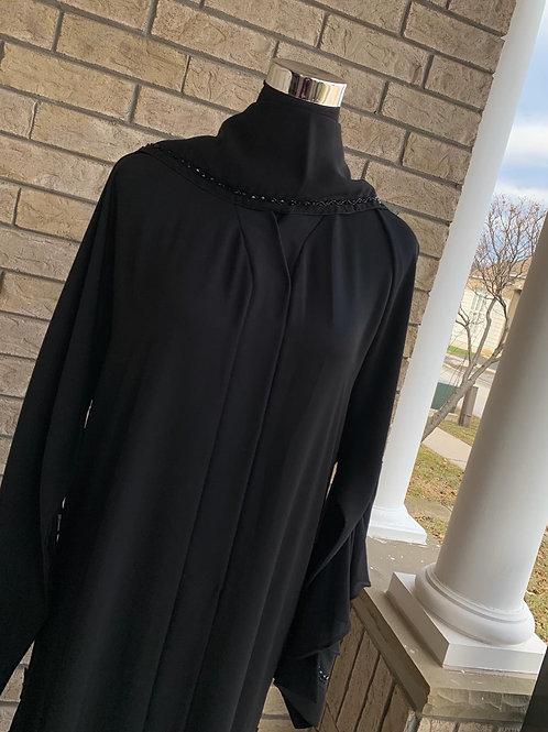 Premium Abaya with Handwork Detail