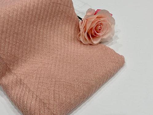 Ripple Gold Shimmer Hijab Blush