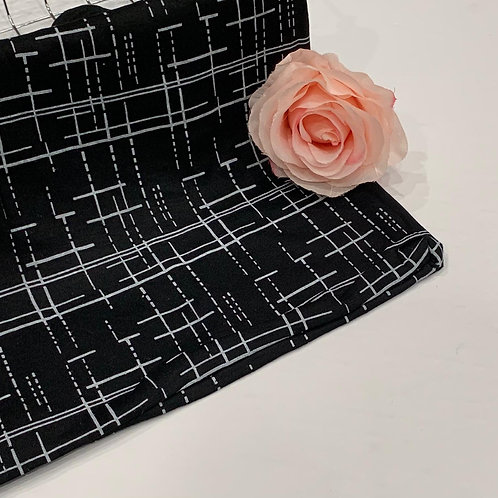 Abstract Jersey Hijab Noir