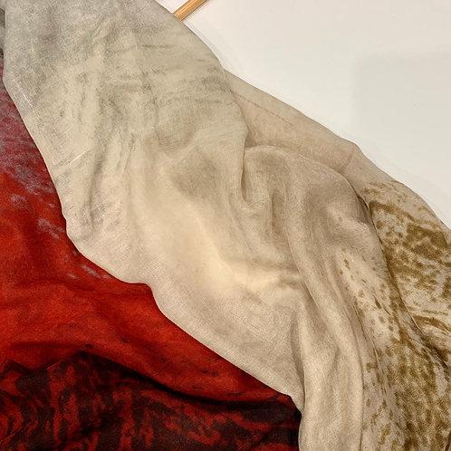 Ombré Hijab Red Beige