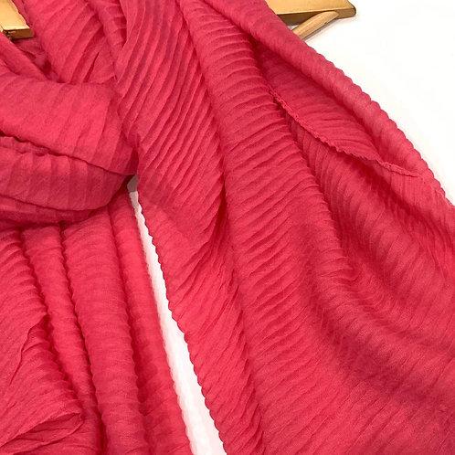Ripple Crinkle Hijab Hot Pink