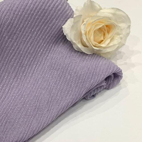 Ripple Shimmer Hijab Lavender