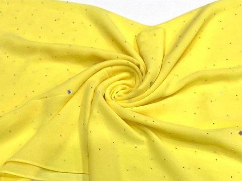 Silver Diamonds Hijab Yellow
