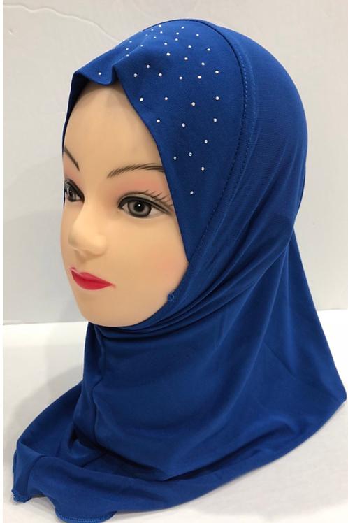 Kids Hijab Small Royal Blue