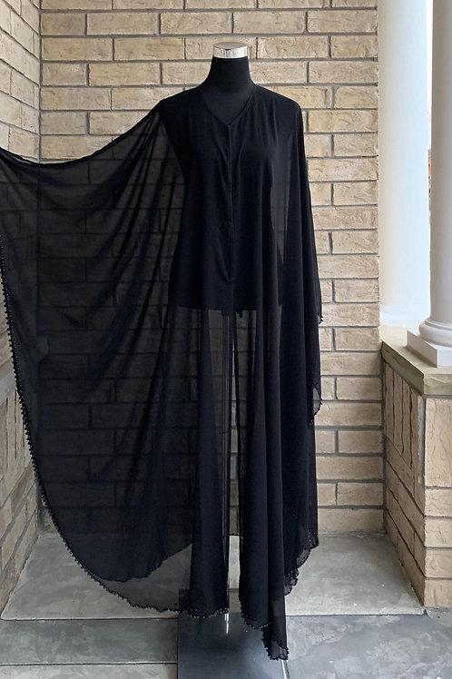 Chiffon Layer + Black Pearls