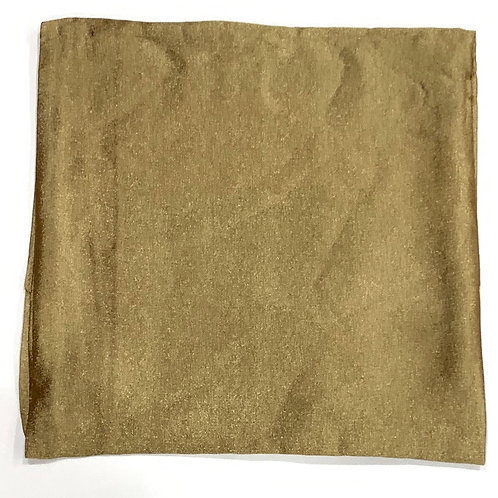 Formal square scarf matte gold