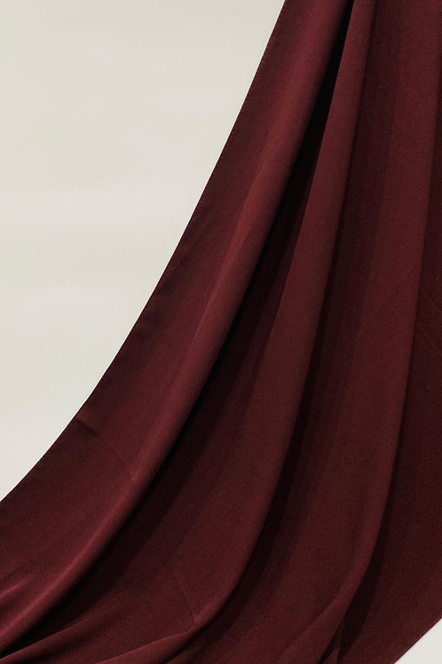 Luxury Chiffon Hijab Burgundy