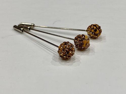 Crystal Pin Gold