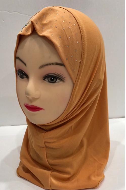Kids Hijab Small Burnt Orange
