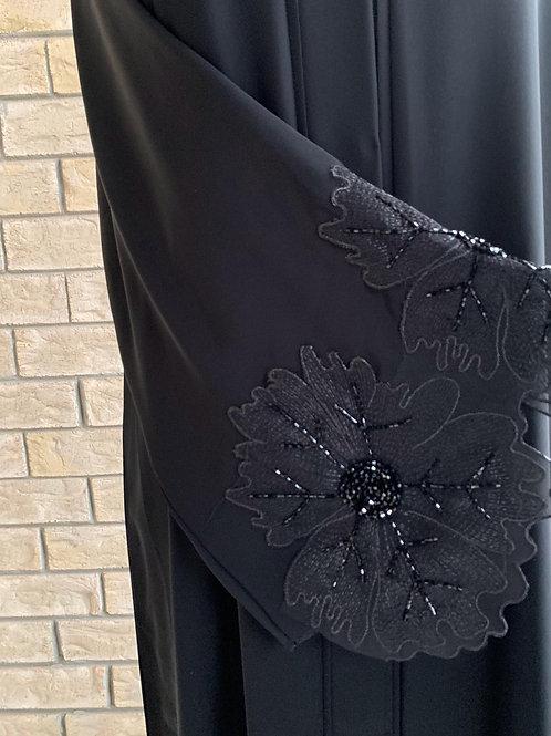 Premium Floral Lace Abaya