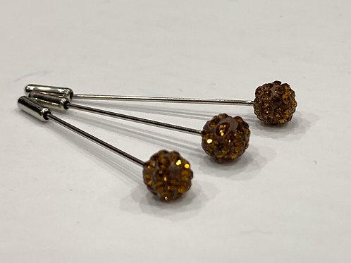 Crystal Pin Bronze
