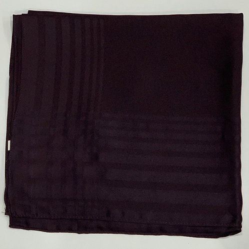 Square scarf with border deep purple