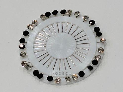 Black And White Diamond  Pin Wheel