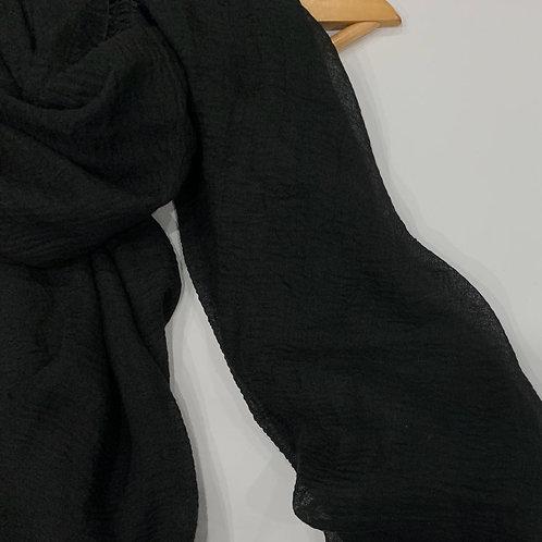 Crinkle Hijab Black