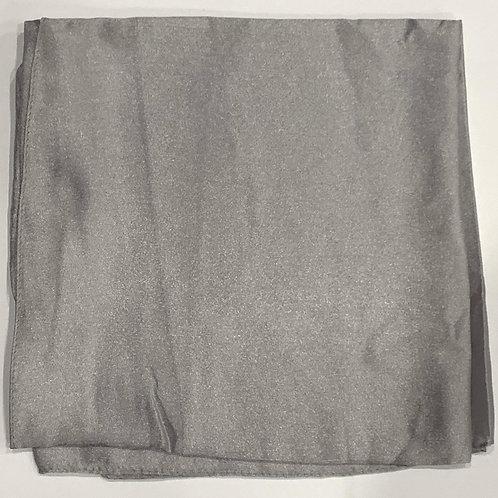Formal square scarf silver