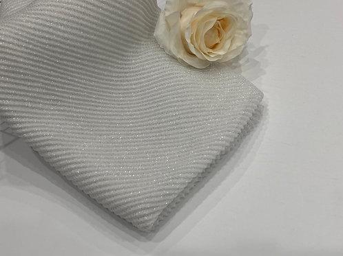 Ripple shimmer hijab white