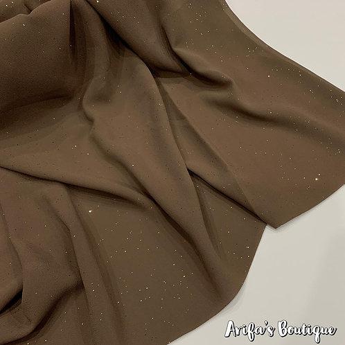 Glitter Chiffon Hijab Beige