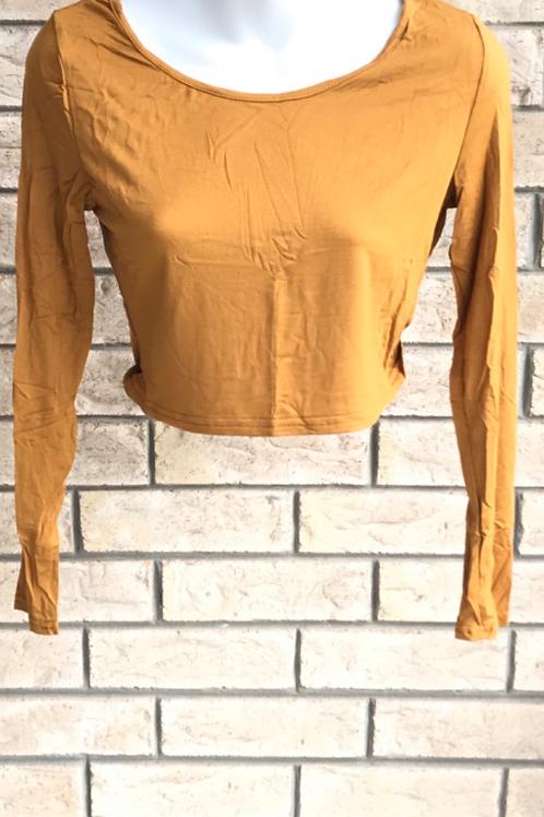 Crop Undershirt Mustard