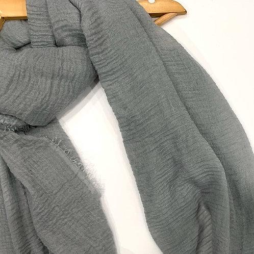Crinkle Hijab Silver Grey
