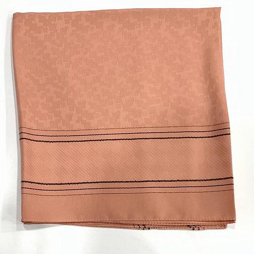 Twilight Self Print Turkish Square Scarf Copper Blush