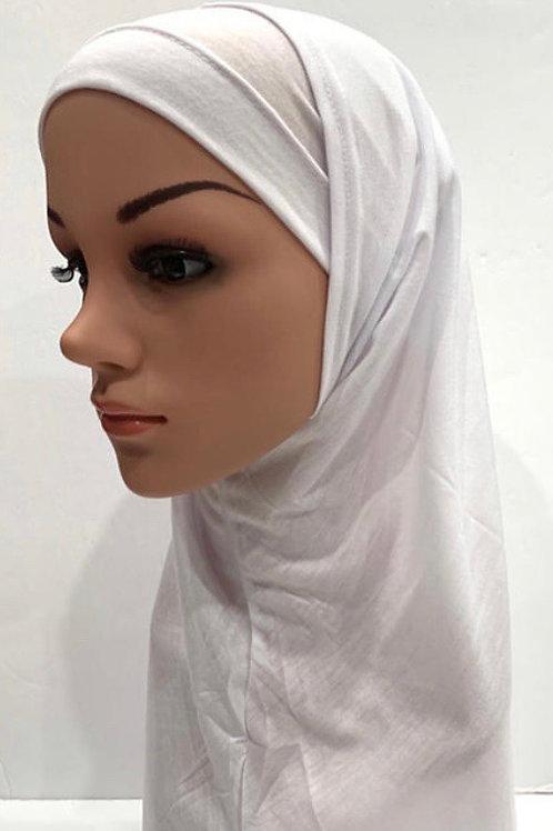 Kids hijab 2pc large white