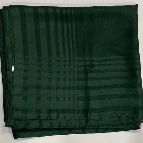 Square scarf with border green