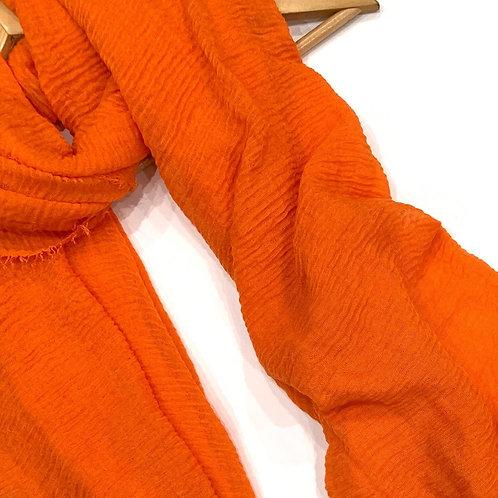 Crinkle Hijab Fire Orange