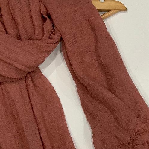 Crinkle Hijab Dark Rosewood